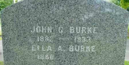 BURKE, ELLA A - Berkshire County, Massachusetts | ELLA A BURKE - Massachusetts Gravestone Photos