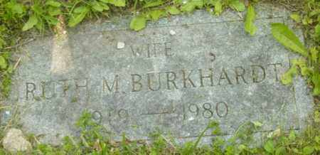 BURKHARDT, RUTH M - Berkshire County, Massachusetts | RUTH M BURKHARDT - Massachusetts Gravestone Photos