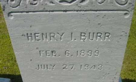 BURR, HENRY I - Berkshire County, Massachusetts | HENRY I BURR - Massachusetts Gravestone Photos