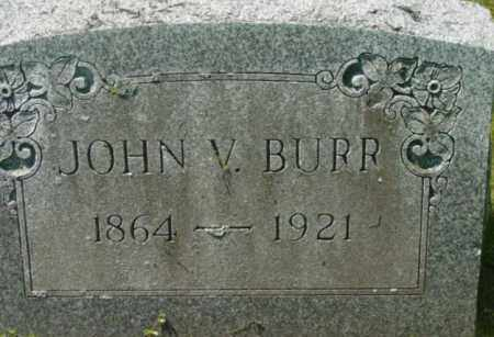 BURR, JOHN V - Berkshire County, Massachusetts | JOHN V BURR - Massachusetts Gravestone Photos