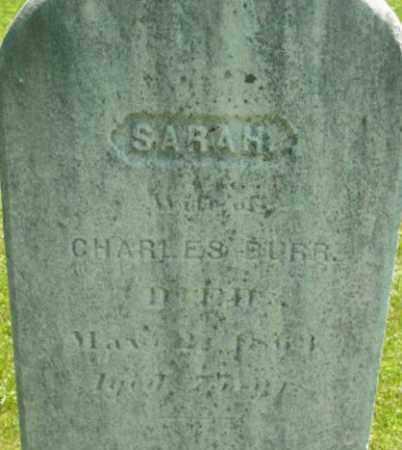 BURR, SARAH - Berkshire County, Massachusetts | SARAH BURR - Massachusetts Gravestone Photos