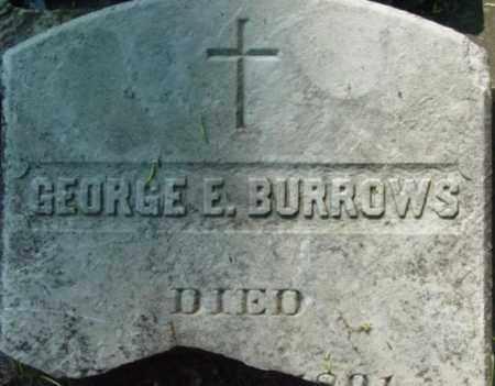 BURROWS, GEORGE E - Berkshire County, Massachusetts | GEORGE E BURROWS - Massachusetts Gravestone Photos