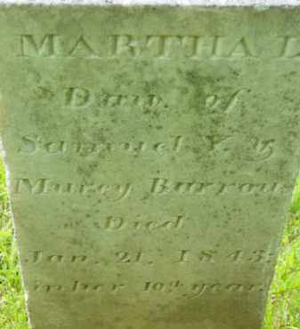 BURROWS, MARTHA L - Berkshire County, Massachusetts | MARTHA L BURROWS - Massachusetts Gravestone Photos
