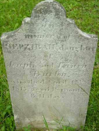 BURTON, HEPZEBAH - Berkshire County, Massachusetts | HEPZEBAH BURTON - Massachusetts Gravestone Photos