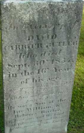 BUTLER, DAVID CARRIER - Berkshire County, Massachusetts | DAVID CARRIER BUTLER - Massachusetts Gravestone Photos