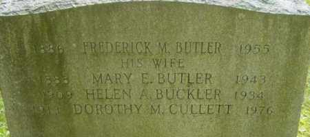 BUTLER, FREDERICK M - Berkshire County, Massachusetts | FREDERICK M BUTLER - Massachusetts Gravestone Photos
