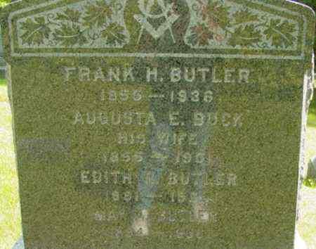 BUTLER, AUGUSTA E - Berkshire County, Massachusetts | AUGUSTA E BUTLER - Massachusetts Gravestone Photos