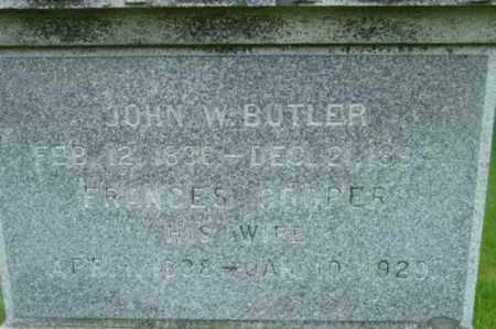 BUTLER, JOHN W - Berkshire County, Massachusetts | JOHN W BUTLER - Massachusetts Gravestone Photos