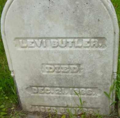 BUTLER, LEVI - Berkshire County, Massachusetts   LEVI BUTLER - Massachusetts Gravestone Photos