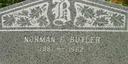 BUTLER, NORMAN F - Berkshire County, Massachusetts   NORMAN F BUTLER - Massachusetts Gravestone Photos