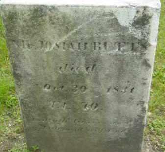 BUTT, JOSIAH - Berkshire County, Massachusetts | JOSIAH BUTT - Massachusetts Gravestone Photos