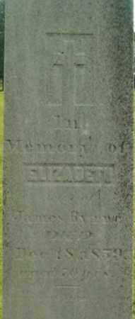 BYRNS, ELIZABETH - Berkshire County, Massachusetts | ELIZABETH BYRNS - Massachusetts Gravestone Photos