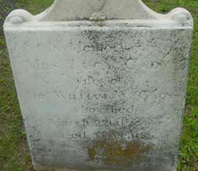 CADY, LUCY - Berkshire County, Massachusetts   LUCY CADY - Massachusetts Gravestone Photos