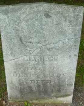 CADY, MARIAH - Berkshire County, Massachusetts   MARIAH CADY - Massachusetts Gravestone Photos