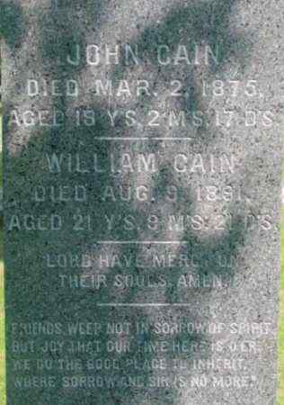 CAIN, JOHN - Berkshire County, Massachusetts | JOHN CAIN - Massachusetts Gravestone Photos