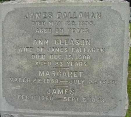 GLEASON CALLAHAN, ANN - Berkshire County, Massachusetts   ANN GLEASON CALLAHAN - Massachusetts Gravestone Photos