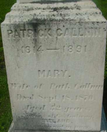 CALLNIN, PATRICK - Berkshire County, Massachusetts | PATRICK CALLNIN - Massachusetts Gravestone Photos
