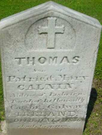 CALNIN, THOMAS - Berkshire County, Massachusetts | THOMAS CALNIN - Massachusetts Gravestone Photos