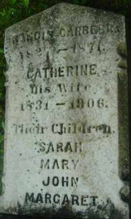 CARBERRY, CATHERINE - Berkshire County, Massachusetts | CATHERINE CARBERRY - Massachusetts Gravestone Photos