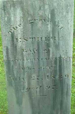 CARPENTER, ESTHER - Berkshire County, Massachusetts | ESTHER CARPENTER - Massachusetts Gravestone Photos