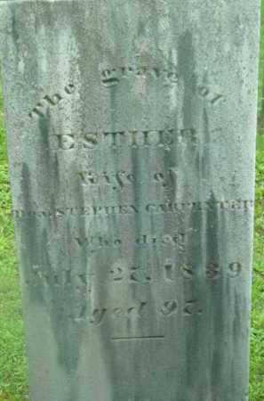 CARPENTER, ESTHER - Berkshire County, Massachusetts | ESTHER CARPENTER - Massachusetts Gravestone Photos