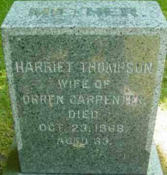 THOMPSON, HARRIET - Berkshire County, Massachusetts | HARRIET THOMPSON - Massachusetts Gravestone Photos