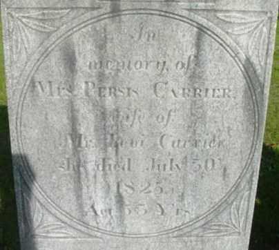 CARRIER, PERSIS - Berkshire County, Massachusetts   PERSIS CARRIER - Massachusetts Gravestone Photos