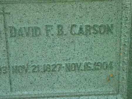 CARSON, DAVID F B - Berkshire County, Massachusetts | DAVID F B CARSON - Massachusetts Gravestone Photos