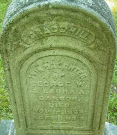 CARSON, GRACE HILL - Berkshire County, Massachusetts | GRACE HILL CARSON - Massachusetts Gravestone Photos