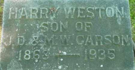 CARSON, HARRY WESTON - Berkshire County, Massachusetts   HARRY WESTON CARSON - Massachusetts Gravestone Photos