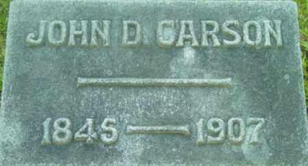 CARSON, JOHN D - Berkshire County, Massachusetts   JOHN D CARSON - Massachusetts Gravestone Photos