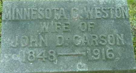 CARSON, MINNESOTA C - Berkshire County, Massachusetts   MINNESOTA C CARSON - Massachusetts Gravestone Photos