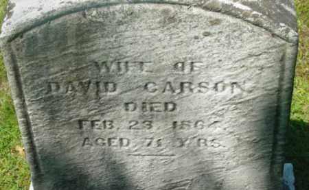 CARSON, MARGARET - Berkshire County, Massachusetts | MARGARET CARSON - Massachusetts Gravestone Photos