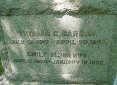 CARSON, EMILY M - Berkshire County, Massachusetts | EMILY M CARSON - Massachusetts Gravestone Photos