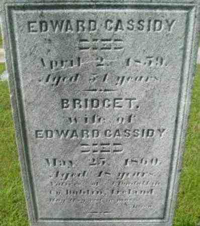 CASSIDY, EDWARD - Berkshire County, Massachusetts   EDWARD CASSIDY - Massachusetts Gravestone Photos