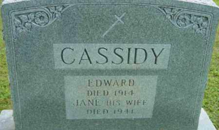 CASSIDY, EDWARD - Berkshire County, Massachusetts | EDWARD CASSIDY - Massachusetts Gravestone Photos