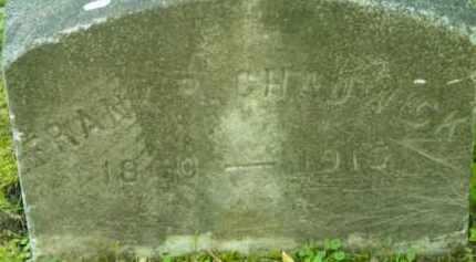 CHADWICK, FRANK P - Berkshire County, Massachusetts | FRANK P CHADWICK - Massachusetts Gravestone Photos