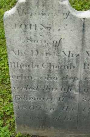 CHAMBERLAIN, JOHN - Berkshire County, Massachusetts | JOHN CHAMBERLAIN - Massachusetts Gravestone Photos