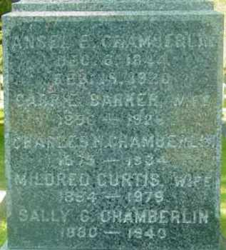 CHAMBERLIN, ANSEL E - Berkshire County, Massachusetts | ANSEL E CHAMBERLIN - Massachusetts Gravestone Photos