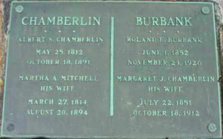 CHAMBERLIN, MARTHA A - Berkshire County, Massachusetts | MARTHA A CHAMBERLIN - Massachusetts Gravestone Photos