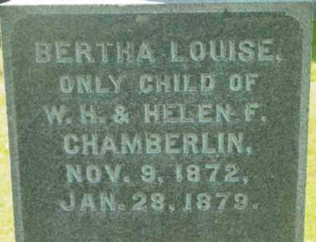 CHAMBERLIN, BERTHA LOUISE - Berkshire County, Massachusetts | BERTHA LOUISE CHAMBERLIN - Massachusetts Gravestone Photos