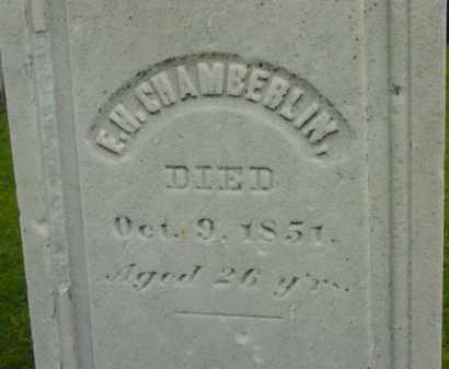 CHAMBERLIN, E H - Berkshire County, Massachusetts   E H CHAMBERLIN - Massachusetts Gravestone Photos
