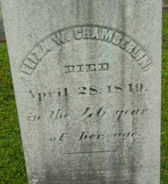 CHAMBERLIN, ELIZA W - Berkshire County, Massachusetts | ELIZA W CHAMBERLIN - Massachusetts Gravestone Photos