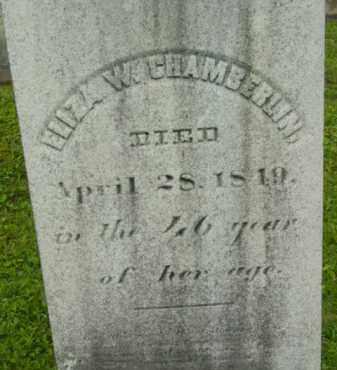 CHAMBERLIN, ELIZA W - Berkshire County, Massachusetts | ELIZA W CHAMBERLIN - Massachusetts Gravestone Photos