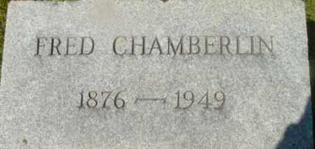 CHAMBERLIN, FRED - Berkshire County, Massachusetts   FRED CHAMBERLIN - Massachusetts Gravestone Photos
