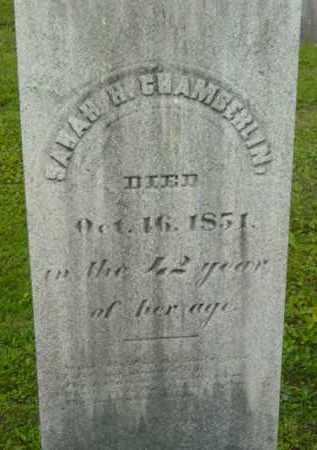 CHAMBERLIN, SARAH H - Berkshire County, Massachusetts   SARAH H CHAMBERLIN - Massachusetts Gravestone Photos