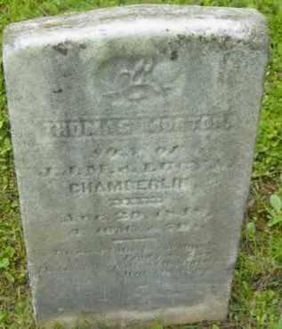 CHAMBERLIN, THOMAS MORTON - Berkshire County, Massachusetts   THOMAS MORTON CHAMBERLIN - Massachusetts Gravestone Photos