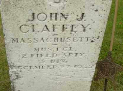 CLAFFEY, JOHN J - Berkshire County, Massachusetts | JOHN J CLAFFEY - Massachusetts Gravestone Photos