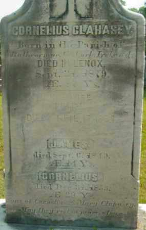 CLAHASEY, CORNELIUS - Berkshire County, Massachusetts | CORNELIUS CLAHASEY - Massachusetts Gravestone Photos