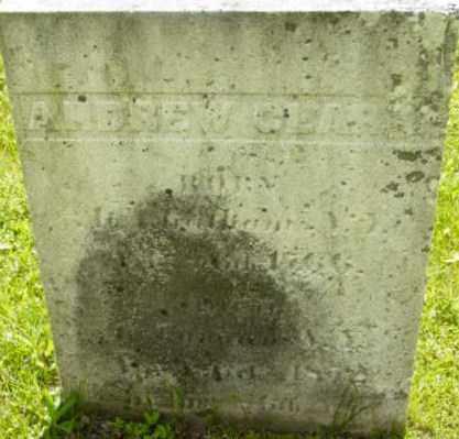 CLARK, ANDREW - Berkshire County, Massachusetts | ANDREW CLARK - Massachusetts Gravestone Photos